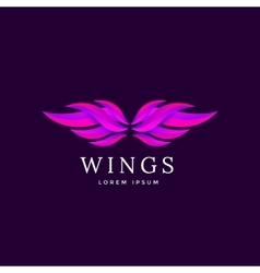 Wings emblem vector image vector image