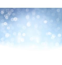 Blue white bokeh background vector image vector image