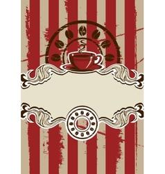 Coffe Cup Menu vector image