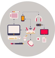 computer devices element flat design vector image vector image
