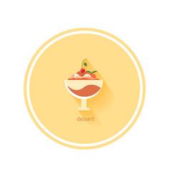 Dessert icon vector image