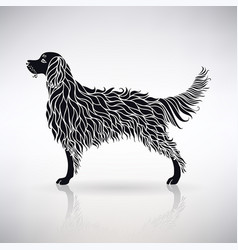silhouette of a stylized dog vector image