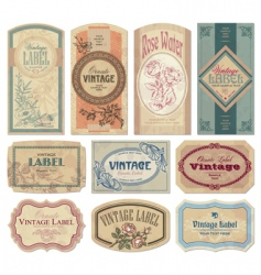 Vintage labels vector