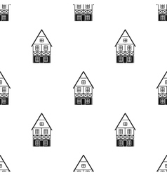 Bavarian house icon in black style isolated on vector image vector image