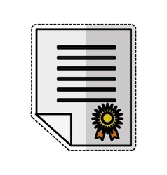 certificate document icon vector image vector image