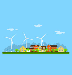 eco city banner vector image