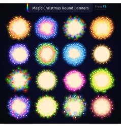 Magic Christmas Round Banners vector image