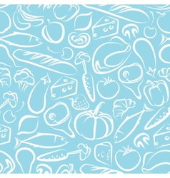 seamless background with food vector image
