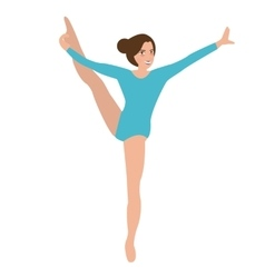 woman girl female gymnastics move position sport vector image