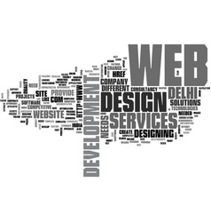 A craze pro web development text word cloud vector