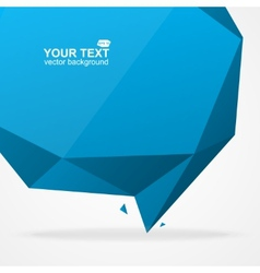 Abstract origami polygonal shape vector