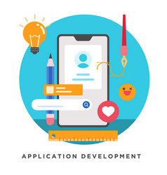 application development vector image