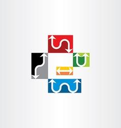 arrows icon set symbol elements vector image