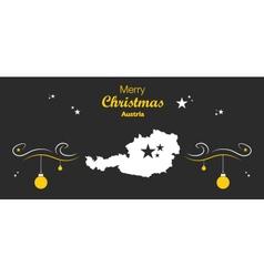 Austria merry christmas map black vector