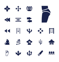 Back icons vector