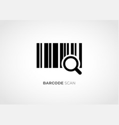 barcode scan icon vector image