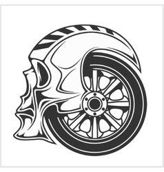 Biker skull - racing symbol vector