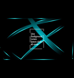 blue light ribbon wave on a black background vector image