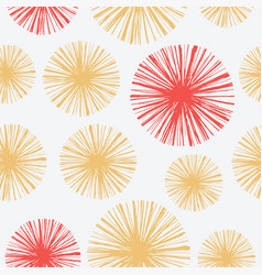 Bright seamless pattern with hand drawn floral vector