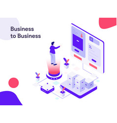 business to business isometric modern flat vector image