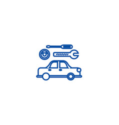 car service sign line icon concept car service vector image