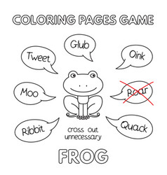 cartoon frog coloring book vector image