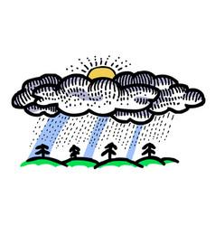 Cartoon image of rain icon rainfall symbol vector