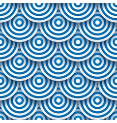 Circles with drop shadows vector