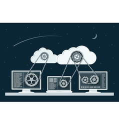 cloud computing 3 vector image