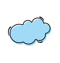 color nice cloud natural weather vector image