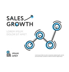 Colorful template for sales growth vector