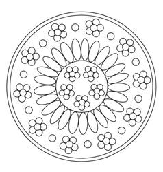 Coloring Simple Chamomile Mandala vector