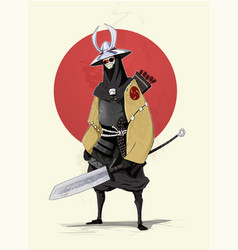 Concept of samurai vector
