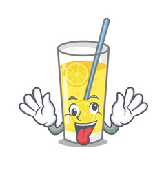 Crazy lemonade mascot cartoon style vector