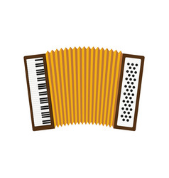 Cute accordion isolated icon vector