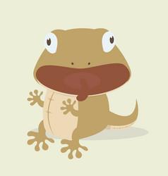 Cute lizard cartoon vector