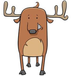 Deer wild animal character cartoon vector