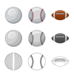 design sport and ball logo collection vector image