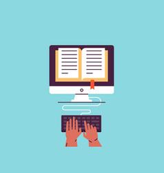 e-book tutorial e-learning distance education vector image