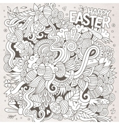 Easter sketch background vector