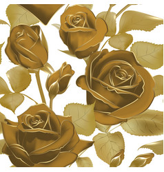 elegant seamless background with roses in sepia vector image