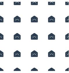 Envelope icon pattern seamless white background vector