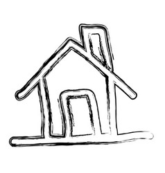 figure house icon image vector image