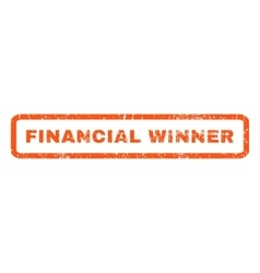 Financial Winner Rubber Stamp vector