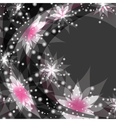 Floral background greeting or invitation card with vector image