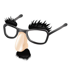 Funny disguise vector