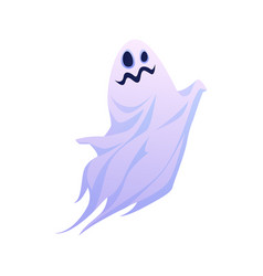 Funny halloween ghost floating apparition vector