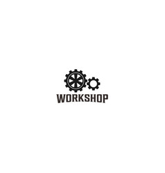 Garage logo gear element automotive vector