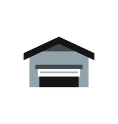 Garage with roof icon flat style vector
