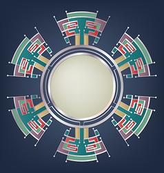 geometrical background snowflakes shape vector image